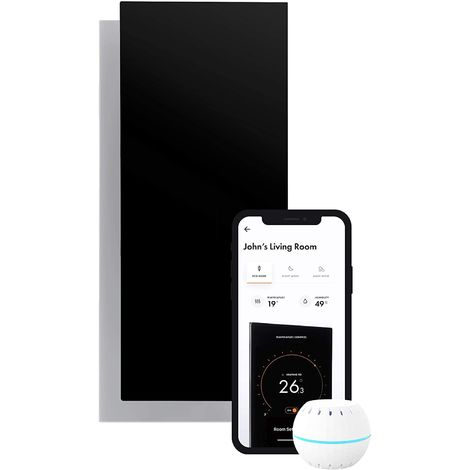 Electric Infrared Radiator Control By Intelligent Ultra Thin Wifi 850 W. Black