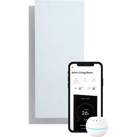 Electric Infrared Radiator Control By Intelligent Ultra Thin Wifi 850 W. White