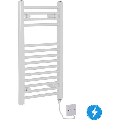 Electric Manual Heated Towel Rail Warmer Radiator White 150W 700x400