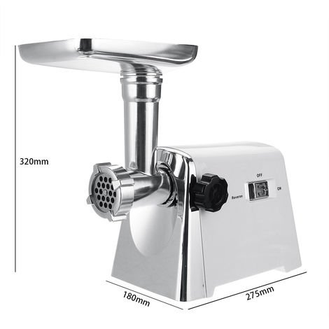 Electric Meat Grinder 2800W 3 Grids 304 Stainless steel