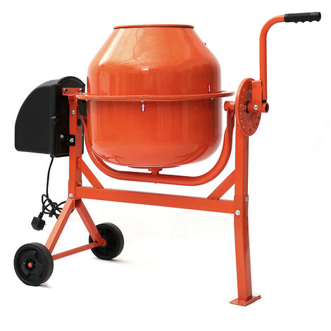 Electric Mobile Cement Mixer Drum For Concrete Plaster Grouting Machine