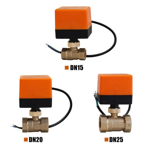 Electric Motorized Brass Ball Valve 2 Ways 3 Wires With Actuator Dn20 Ac 220V