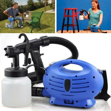 """main image of """"ELECTRIC PAINT SPRAYER SYSTEM ZOOM SPRAY GUN PAINTING FENCE BRICKS OUTDOORS NEW"""""""