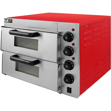 """main image of """"Electric Pizza Oven with Audible Timer & Twin Deck Firebrick / Commercial Baking & Grilling"""""""