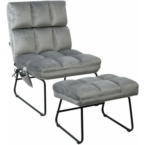 Electric Rest Massage Chair Sofa Foot Stool Ottoman 5 Modes Massager RC Control