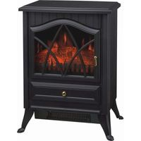 Electric Stove Fire Log Burning Effect Fireplace Blow Heater 1850w Free Standing