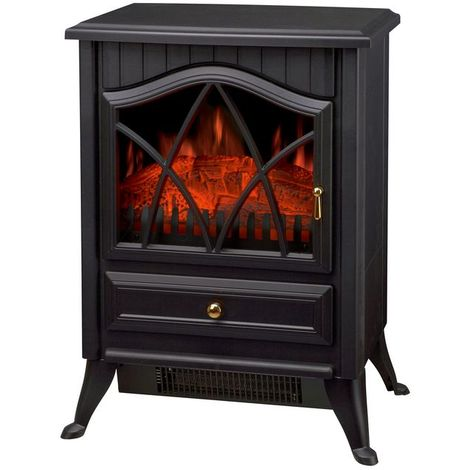 Electric Stove Log Burning Flame Effect 1850W Black ND-18D2P