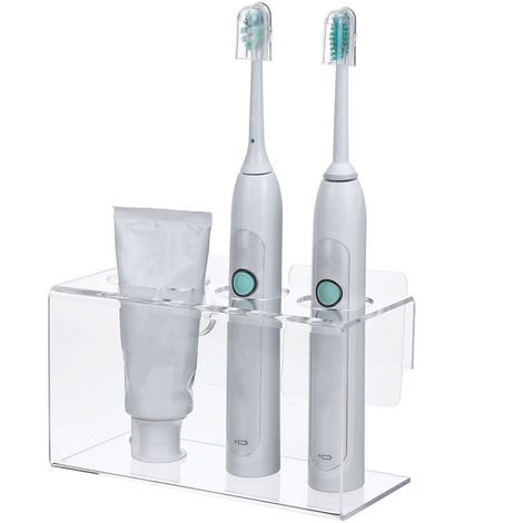 Electric Toothbrush and Toothpaste Holder Wall Mounted Bathroom Organizer