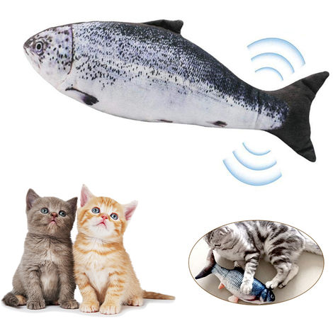 Electric USB?Charging Simulation Fish Cat Toy Cats Catnip Toys for Cat Kitty Kitten-Perfect