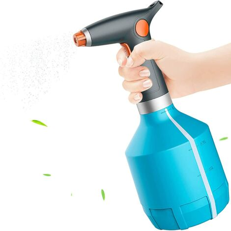 """main image of """"Electric Watering Can 1L, Plant Sprayer, Electric Sprayer Bottle with Adjustable Nozzle for Gardening, Household Cleaning, Alcohol, Indoor / Outdoor Plants (Blue)"""""""