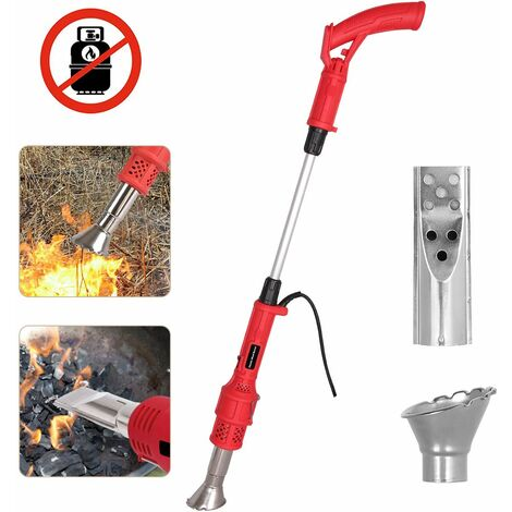 """main image of """"Electric Weed Killer, Weed Burner with Nozzle - Burn Weed & Charcoal 2 in 1 Thermal Weed Stick, Up to 650 ℃ Powerful Weed Control Tool"""""""