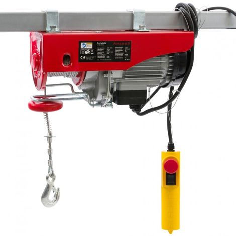 Electric Winch Hoist Lifting Engine Pulley Electric Wire Rope Winch 200/400 kg