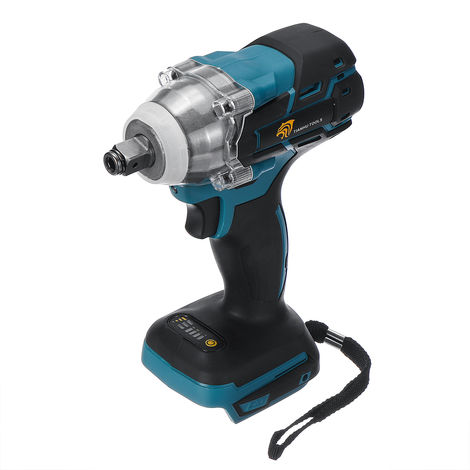 Electric Wrench Impact Wrench Cordless Screwdriver Percussion 520Nm No Battery Suitable for Makita 18 V battery BLUE-BLACK