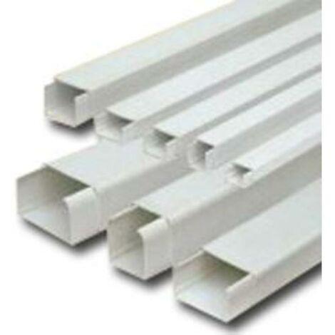 MIBRICOTIENDA electricidad canaleta adhesiva 2 mts blanca 15x17 mm 71006