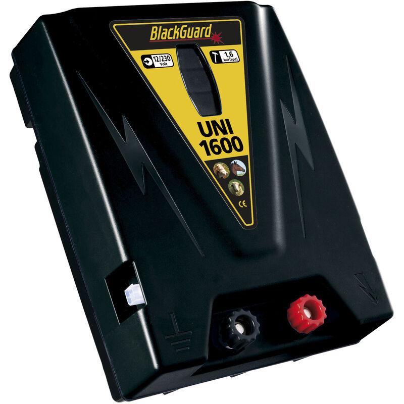 Électrificateur de clôture UNI 1600 avec protection contre les décharges profondes - batterie 12V / secteur 230 V BlackGuard