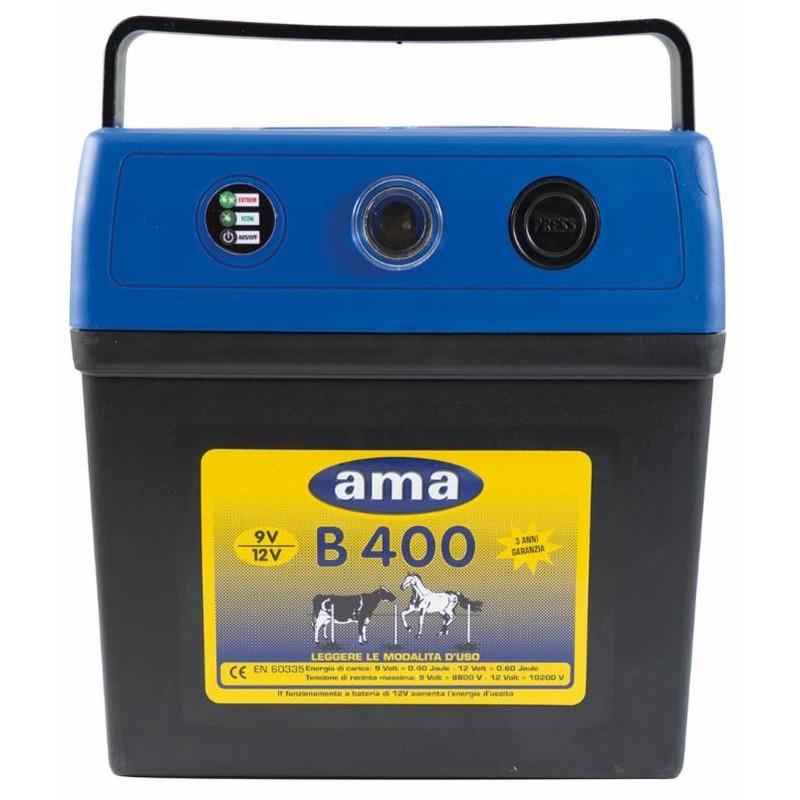 Électrificateur AMA pour clôtures 0,4 J 9 V-90 Ah maxi : 6km