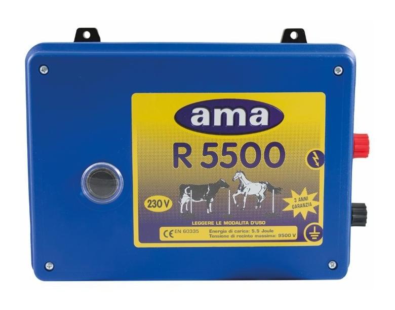 Électrificateur AMA pour clôtures 5.5 J 230 V- maxi : 20 km