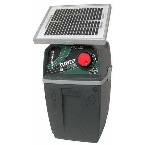 electrificateur clovert p25 solar complet, batterie 12v + pann 2w