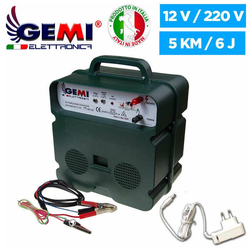 ELECTRIFICATEUR De Clôture Électrique 5 Km Double Alimentation (Batterie)12V / 220V Clôture Électrifiée B/12 Extrafort Pour Animaux Chevaux Chiens
