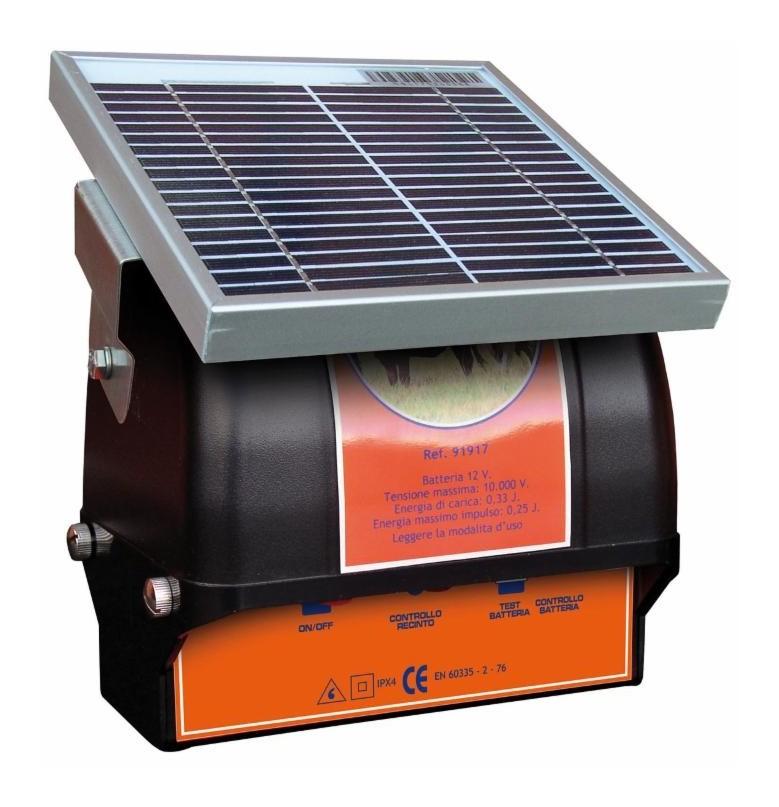 Électrificateur solaire AMA pour clôtures 0,33 J 12 V- maxi : 2 km