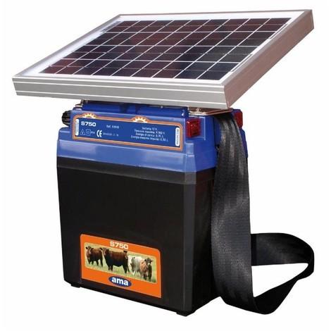Électrificateur solaire AMA pour clôtures 0,70 J 12 V- maxi : 8 km