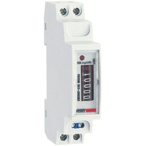 Électrique compteur d'Énergie Vemer d'Énergie 230V micro DIN VE321600