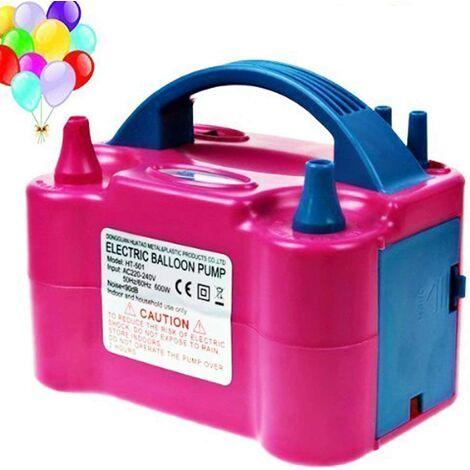 Électrique gonfleur ballon 600W,Pompe à air pour gonfler des ballons avec double buses d'air du ventilateur portable, Fonctionnement automatiquement et semi-automatiqueent, Idéal pour les fêtes et événements.