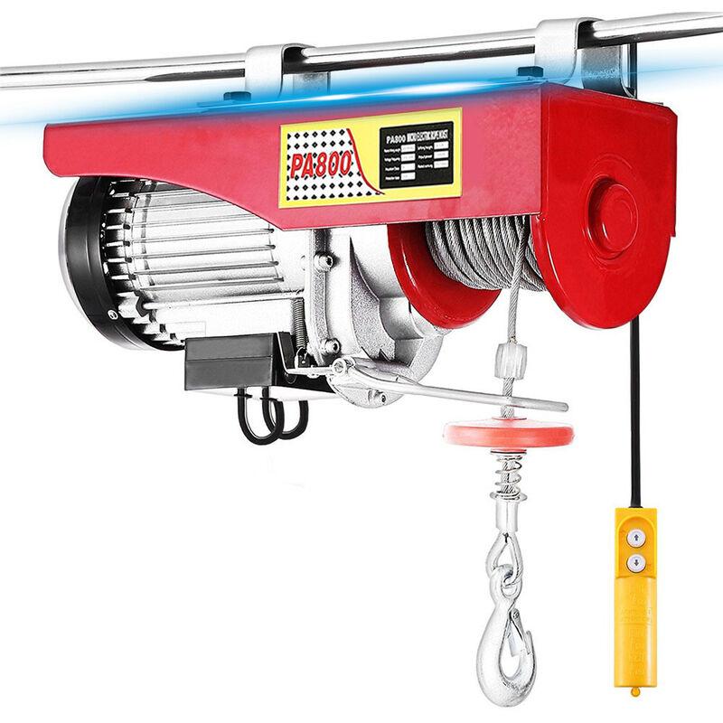 Electrique Treuil-Palan Electrique Avec contrôle pour atelier boutique de Garage 800kg - Rouge-argent