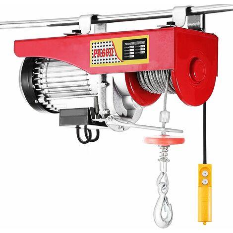 Electrique Treuil-Palan Electrique Avec contrôle pour atelier boutique de Garage 400kg - Rouge-argent