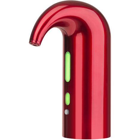 Electrique Vin Aerateur Verseur Une Operation Cle Double Pompe Automatique Instantanee Vin Oxydeur Distributeur, Rouge