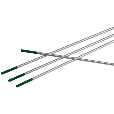 Électrode en tungstène WP Ø 2,4 mm Longueur 175 mm vert 10 pces/boîte plast.