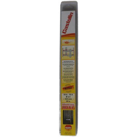 Électrode pour soudure à l'arc de 2.5 mm, 10 pièces