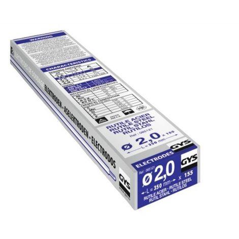 Electrode traditionnelle acier rutile Gys - Diamètre 2 mm - Vendu par 155 - GYS