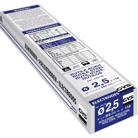 Électrodes de soudage GYS (Ø x L) 2.5 mm x 350 mm 80 A (max.) 110 pc(s) Q973052