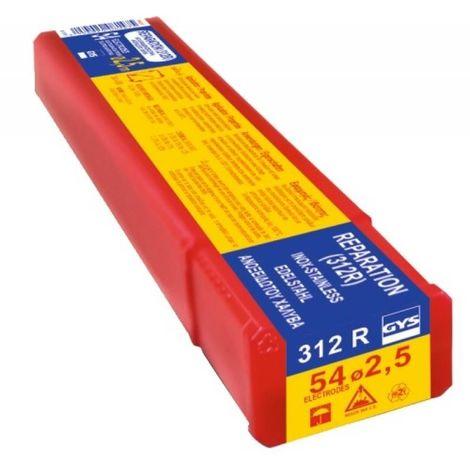 Électrodes inox 312R, diamètre 2,5 mm, longueur 350 mm, boîte de 54 pièces