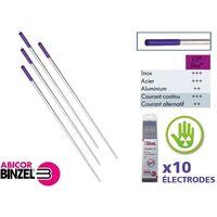 Électrodes Tungstene E3 Lilas Binzel en étui de 10 pièces (ø 1.6 mm (étui de 10))