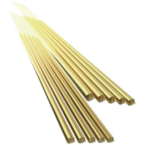 Electrodo de alambre de soldadura de laton, varilla de soldadura, sin necesidad de polvo de soldadura