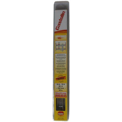 Electrodo para soldadura de arco de 2,5 mm, 10 piezas