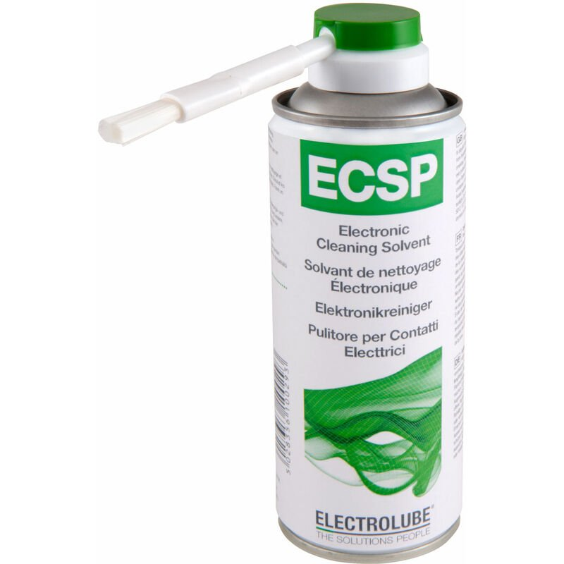 Image of Electrolube ECSP200DB Electronic Cleaning Solvent Plus 200ml With Brush