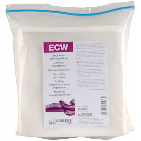 Electrolube ECW025 Engineers Cleaning Wipes Pack Of 25