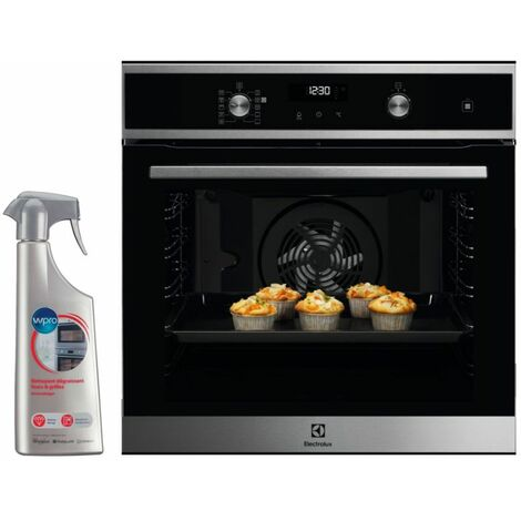 ELECTROLUX FOUR Pyrolyse encastrable inox 72L MULTIFONCTION porte froide - Inox
