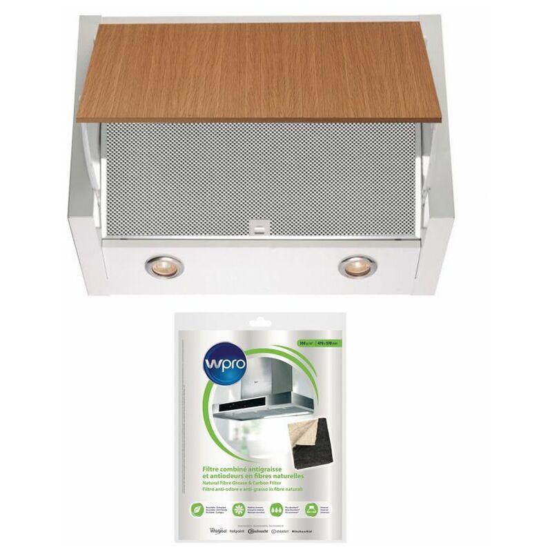 ELECTROLUX Hotte escamotable tiroir télescopique blanc largeur 60cm débit d'air 730m3/h - Blanc