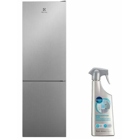 ELECTROLUX Réfrigérateur Frigo combiné inox 324L Froid ventilé No Frost Multiflow - Inox