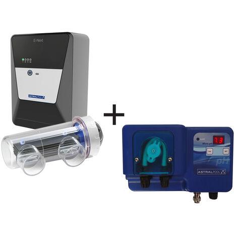 Electrolyseur au sel E-Next 7 + Pompe doseuse Micro pH - Astral Pool