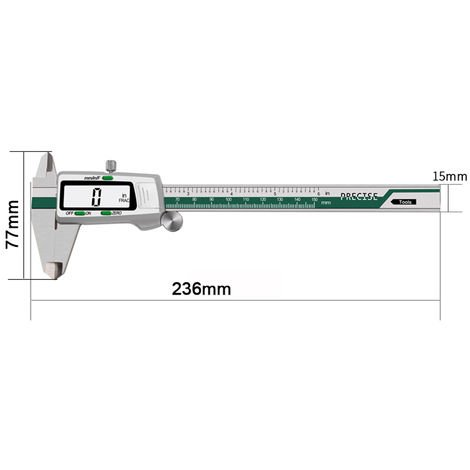 Electronic Caliper With Lcd Digital Display, 0-150mm