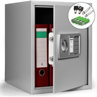 Electronic Digital Safe 35 x 40 x 40 cm Home Safe Cash Valuables Prepared For Wall Floor Cabinet Mounting