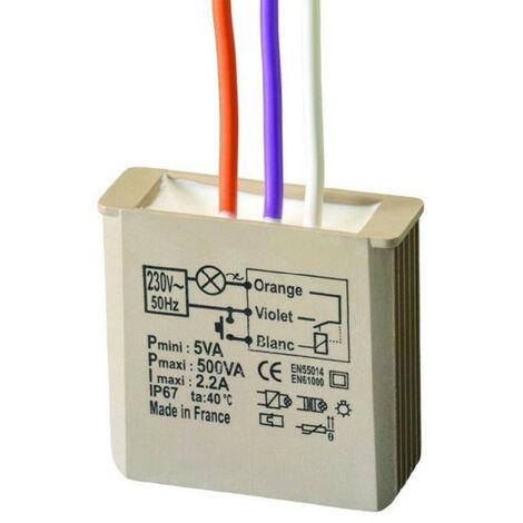 Electrónica relé de Urmet Yokis MTR500E paso a paso con neutro 5454050