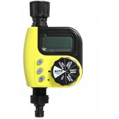Electronique Numerique Extremite Du Tuyau D'Arrosage Minuterie Controleur Numerique Minuteur Garden Irrigation Minuterie, Jaune