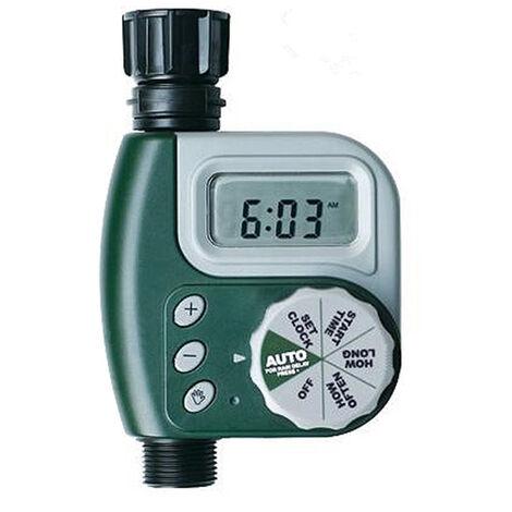 Electronique Numerique Extremite Du Tuyau D'Arrosage Minuterie Controleur Numerique Minuteur Garden Irrigation Minuterie, Vert