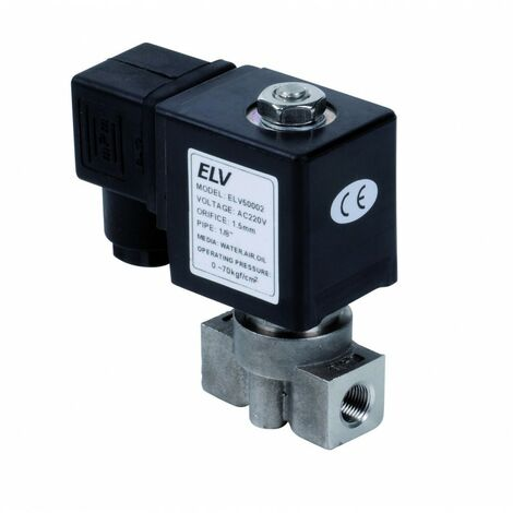 Electrovanne haute pression inox 1/8'' NF